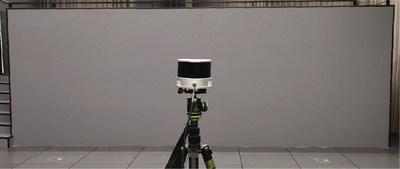 PandarXT scanning a wall at 6 m to measure wall thickness (PRNewsfoto/Hesai Technology)