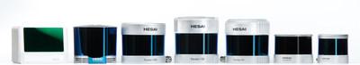 Hesai's LiDAR product suite (PRNewsfoto/Hesai Technology)