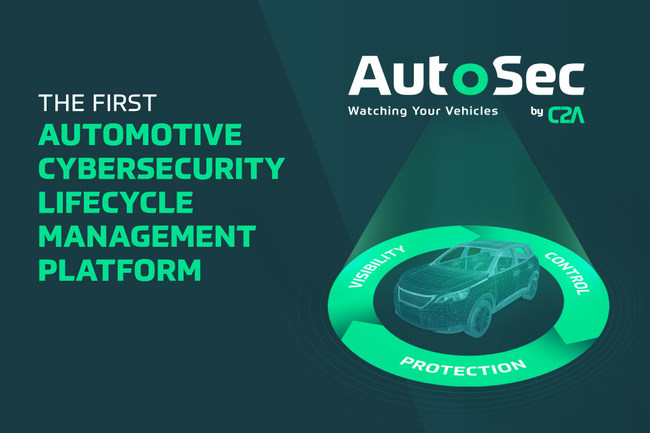 AutoSec empowers OEMs, Tier-1s and the entire supply chain with the visibility and control needed to protect all connected vehicles (PRNewsfoto/c2a-sec Ltd.)
