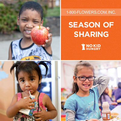 """1-800-FLOWERS.COM, Inc. Introduces """"Season of Sharing"""" Holiday Gift Collection to Benefit No Kid Hungry"""