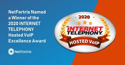 NetFortris Named a Winner of the 2020 INTERNET TELEPHONY Hosted VoIP Excellence Award