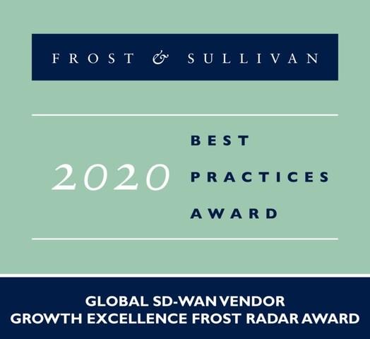 2020 Global SD-WAN Vendor Growth Excellence Frost Radar Award