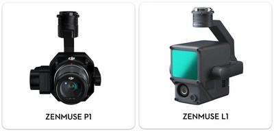 New DJI Zenmuse P1 And DJI Zenmuse L1 Payloads Become The Drone Industry's Most Capable Solutions For Geospatial, Surveying And Construction Professionals
