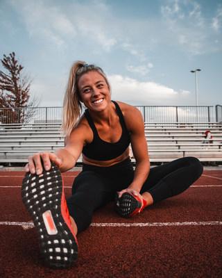 Kelsey Mitchell, athlète olympique RBC et diplômée du programme Camp des recrues RBC, s'entraîne à Milton, en Ontario, en vue des Jeux olympiques de 2020 à Tokyo (Groupe CNW/RBC Groupe Financier)