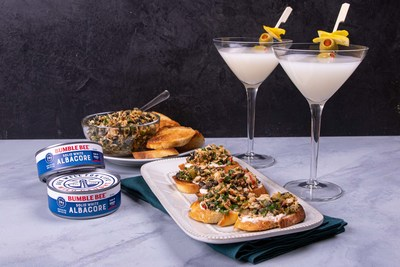 "Bumble Bee® Seafoods partners with FOODBEAST to create delicious ""tunatini"" and crostini combo."