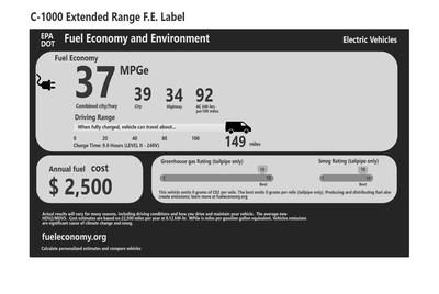 C-1000 Extended Range F.E. Label