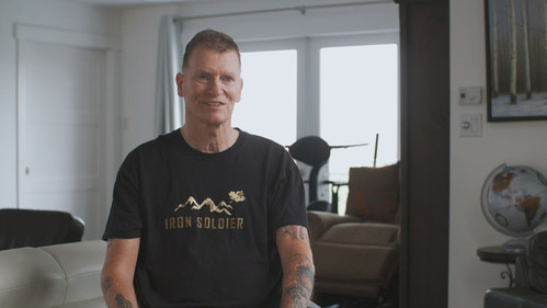 Canadian veteran Trevor Greene continues his recovery from brain injury using innovative brain technologies (CNW Group/HealthTech Connex Inc.)