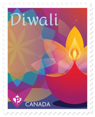 Timbre Diwali (Groupe CNW/Postes Canada)
