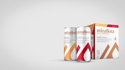 Miraflora's line of Hemp Infusions CBD-infused sparkling sports beverages available nationwide fall 2020