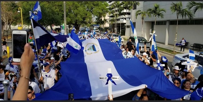 We are planning to demonstrate in front of the OAS on October 20th from 1pm to 4pm and October 21st from 10am to 5pm to make sure we cover the time when the Nicaraguan issue is going to be discussed on the floor of the OAS General Assembly.