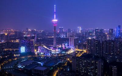 The night scene of Chengdu