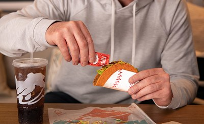"""Taco Bell® teams up with MLB to bring back """"Steal A Base, Steal A Taco"""" and give everyone in America a free Doritos® Locos Tacos -- this time Taco Bell Rewards (Beta) Program members can redeem a taco earlier than ever before."""