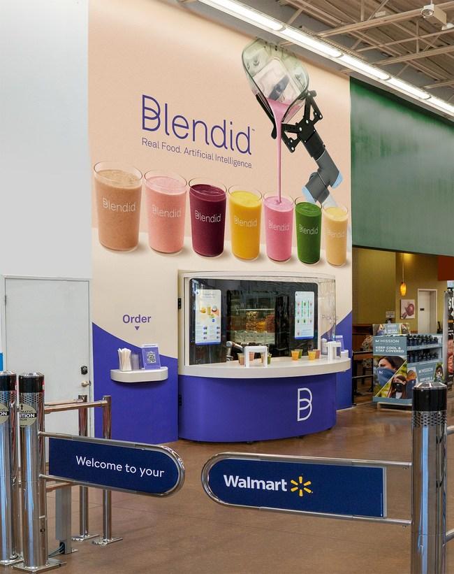 Blendid's new kiosk at the Fremont Walmart location (PRNewsfoto/Blendid)