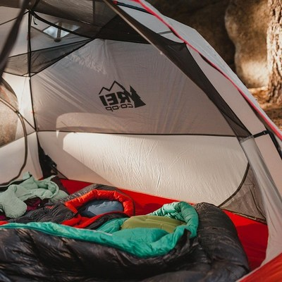 REI Co-op tent and sleeping bags