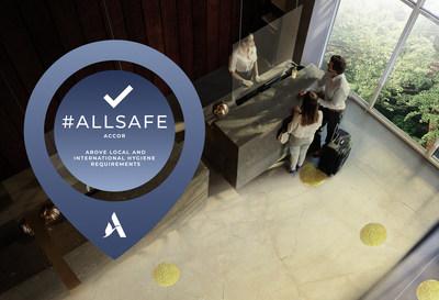 O selo de limpeza e higiene ALLSAFE da Accor foi desenvolvido em conjunto com o Bureau Veritas, líder mundial em testes, inspeção e certificação. (CNW Group/Accor)