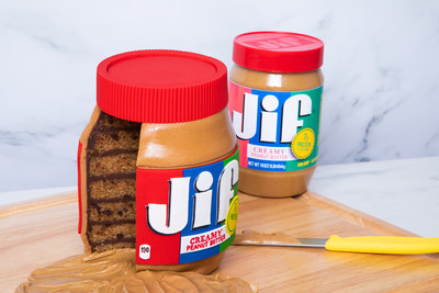 That's not a jar of peanut butter - it's a cake!