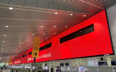 Absen Selected for Largest Airport LED Display in SE Asia (PRNewsfoto/Absen)