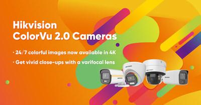 شركة هيكفيجن تصدر كاميرات ColorVu 2.0 مزودة بـ 4 كي وخيارات البؤر المتعددة
