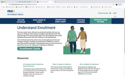 My Medicare Matters® is a modern easy to use online tool, created by the National Council on Aging, that provides trusted unbiased information which helps Medicare recipients navigate confusing coverage options and make choices that best suits their needs.