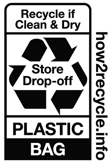 "Novolex is a supporter of the How2Recycle® program, and partners with retailers to have polyethylene film and bags marked with the ""Store Drop-off"" logo. The label instructs consumers to bring plastic bags to participating retailers for recycling. Consumers can bring back plastic retail bags, produce bags, bread bags, newspaper bags, cereal bags, mailers, dry cleaning and other polyethylene films commonly used to package retail goods."