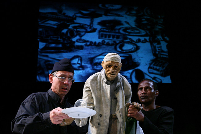 """""""Woyzeck on the Highveld,"""" by Handspring Puppet Company of South Africa. Directed and with animations by William Kentridge. Photo (c) Ruphin Coudyzer FPPSA"""