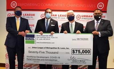 Bunzl donates to the Urban League of Metropolitan St. Louis