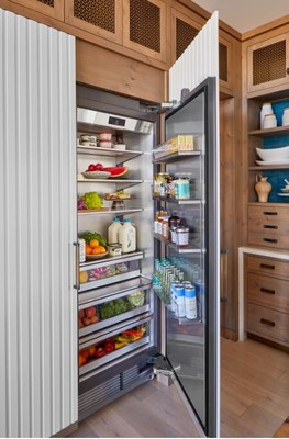 Preserving and maintaining the integrity of fresh food is the focus behind Signature Kitchen Suite's integrated refrigerators and freezers featured within the House Beautiful Whole Home Concept House kitchen. Both the 30-inch column refrigerator and 18-inch column freezer are engineered to provide the largest capacity in their respective classes and feature an intelligent, symmetrical design that allows for flush installation, along with easy door reversal.