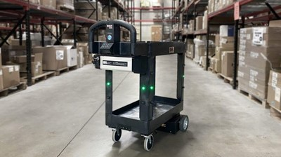 """MARC™, the very first product from MuL Technologies, has earned the title of """"Coolest Thing Made in Wisconsin"""" from Wisconsin Manufacturers & Commerce and Johnson Financial Group. MARC is a mobile autonomous robotic cart that MuL Technologies launched just five months ago. It is designed to easily, efficiently and safely move and deliver parts, tools, supplies, products and other items to locations throughout warehouses and manufacturing facilities. MARC can transport up to 200 lbs., reducing the need for workers to carry and transfer items and, in today's COVID world, helps minimize worker to worker contact."""