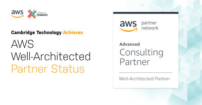 Cambridge Technology adds Well-Architected Partner Status to their existing AWS Competencies and Programs. @AWS_Partners #AWS #WellArchitectedReview #Awswellarchitected #awscloud @cam_technology