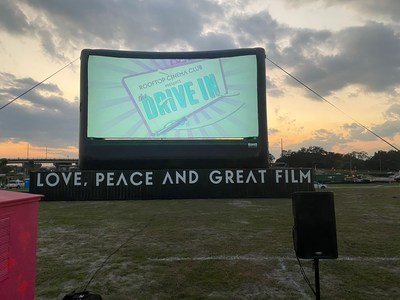 Rooftop Cinema Club Opens in Tampa with Ultimate Outdoor Entertainment providing equipment.