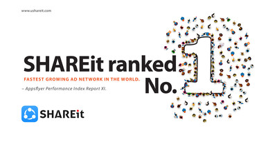SHAREit ranks No.1 in the latest AppsFlyer Global Growth Index