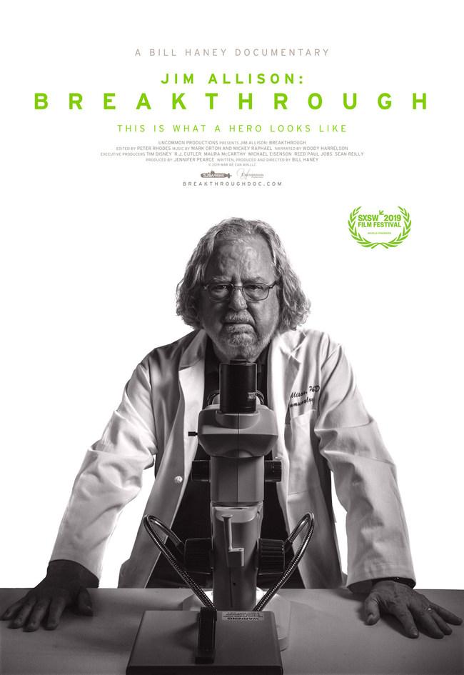 Jim Allison: Breakthrough documentary film poster