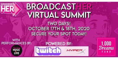 1,000 Dreams Fund is committed to elevating women in the digital broadcasting and gaming space with our first-ever BroadcastHER Summit in partnership with Twitch.