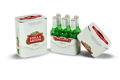 This rounded-corner Stella Artois bottle multipack won the Folding Carton of the Year Award.