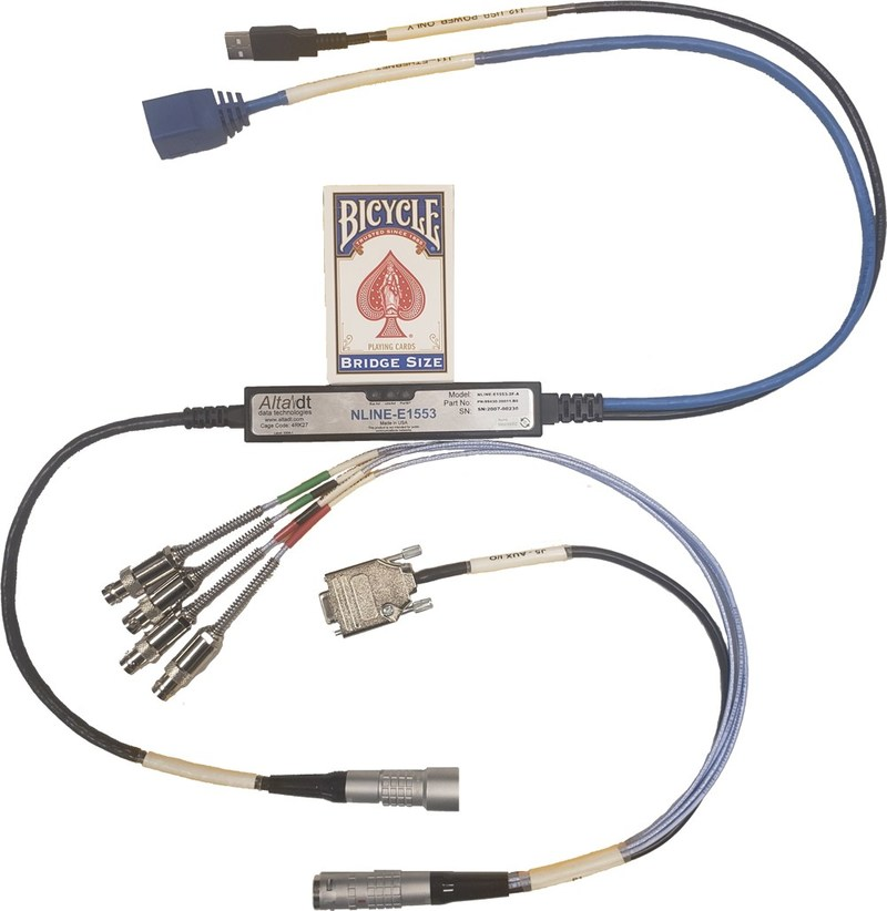 Amazing MIL-STD-1553 Ethernet Converter - Full Featured Controls Built Right-in the Cable!