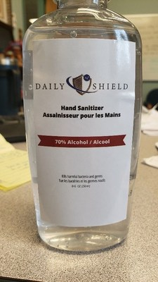 Counterfeit Daily Shield hand sanitizer (CNW Group/Health Canada)