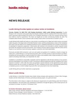 Lundin Mining Provides Update on Labour Action at Candelaria (CNW Group/Lundin Mining Corporation)