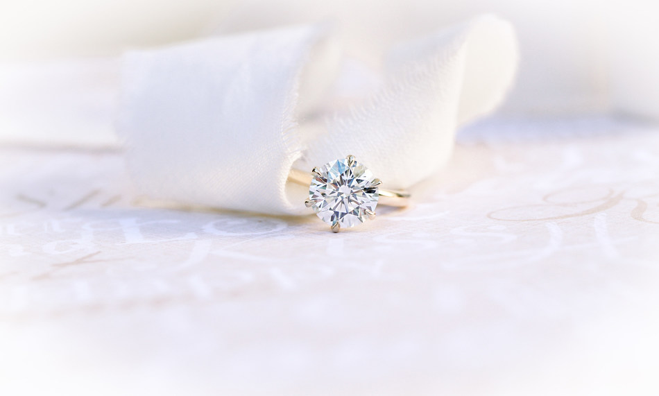 Six Prong Solitaire Engagement Ring by Ada Diamonds