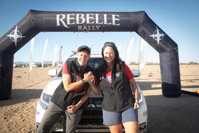 Mitsubishi Motors North America and Team Record the Journey celebrate a podium finish at the 2020 Rebelle Rally.