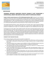 Josemaria Resources Announces Positive Feasibility Study Showcasing a Conventional, Robust and Rapid Pay Back, Open Pit Copper-Gold Project (CNW Group/Josemaria Resources Inc.)