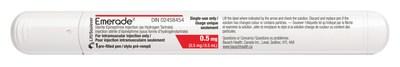 Emerade 0.5 mg (CNW Group/Bausch Health)