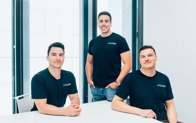 Tiliter's Co-Founders: Chris Sampson, Martin Karafilis and Marcel Herz (left to right)
