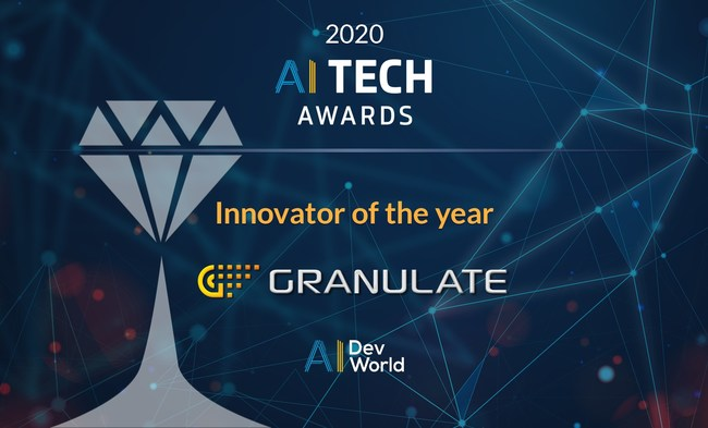 Granulate Wins Innovator Of The Year In 2020 AI Tech Awards