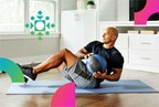 Picture of a man exercising with an exercise ball