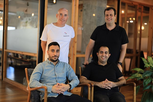The Dealtale team: Aviran Moshe, Adi Mizrahi, Nir Goldberg and Ariel Geifman.