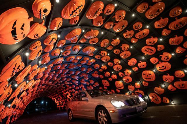 Hauntoween LA Pumpkin Tunnel with Car
