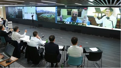 Veea CEO Allen Salmasi meets with SK E&C CEO Ahn Jae-hyun and SK E&C executive team by video conference on October 14th to discuss the Smart Safety Platform collaboration.