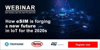 The IoT Now webinar will take place on Oct. 28, those interested can register to attend at https://www.iot-now.com/how-esim-is-forging-a-new-future-in-iot-for-the-2020s/