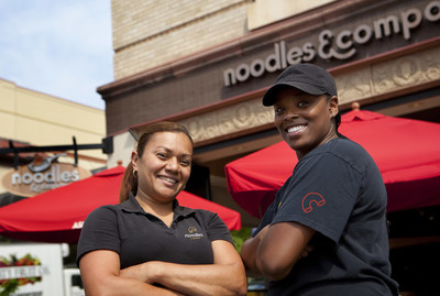 Noodles & Company expands team member benefits with industry-leading offerings to promote inclusion, mental health, and much more. (Note: Photo was taken pre-COVID. Noodles & Company is committed to the highest safety standards.)