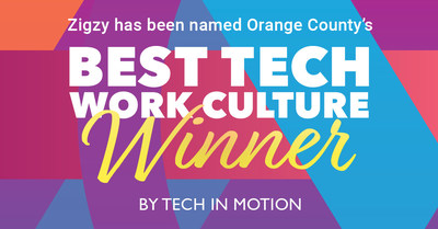 Tech company Zigzy wins Best Tech Work Culture in Orange County and moves on to national competition.